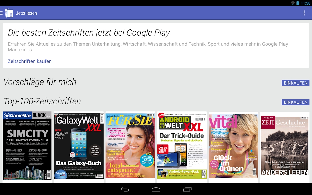 Google Play Magazines Deutschland