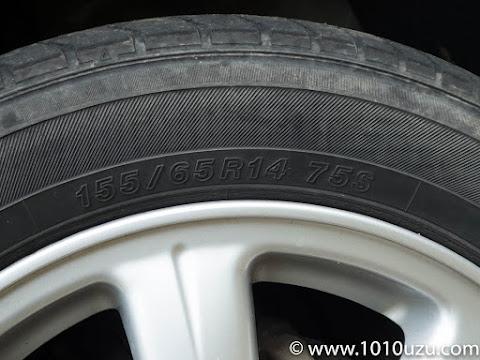 ミラジーノの新車装着のタイヤサイズは155/65R14 75S