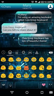 Neon Clock Emoji Keyboard Skin - screenshot