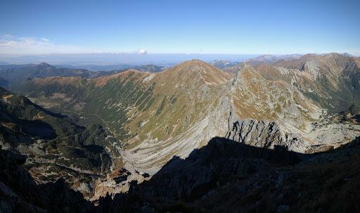 Roháčska dolina a Západné Tatry z Plačlivého