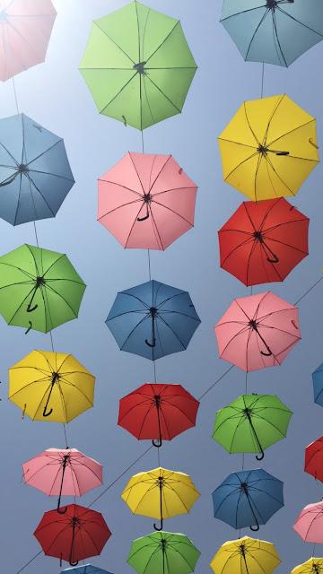 Umbrellas over Israel