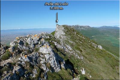 Peña del León visto desde San Tirso