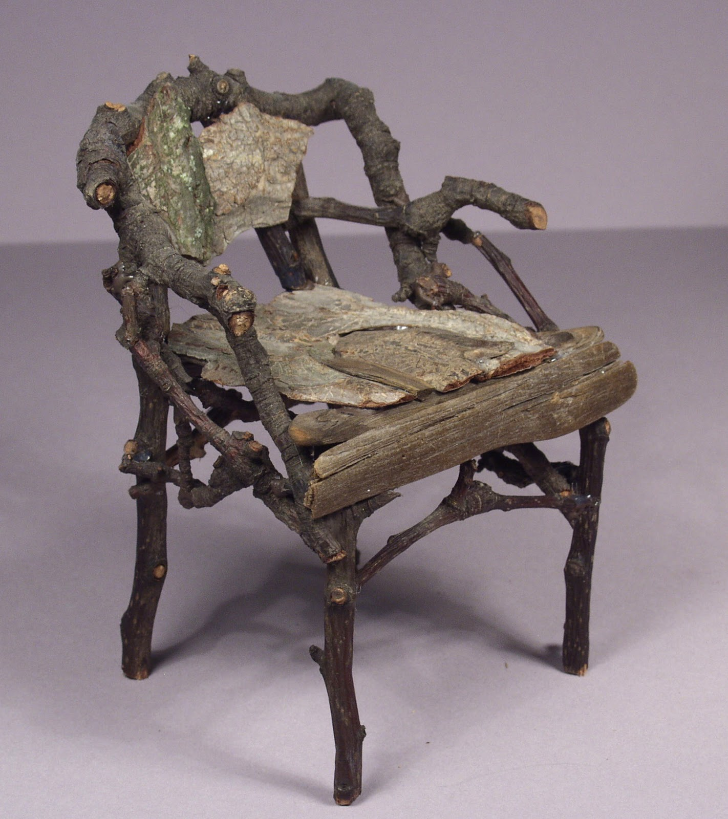 Charmant Miniature Rustic Twig Furniture Handcrafted By George C. Clark