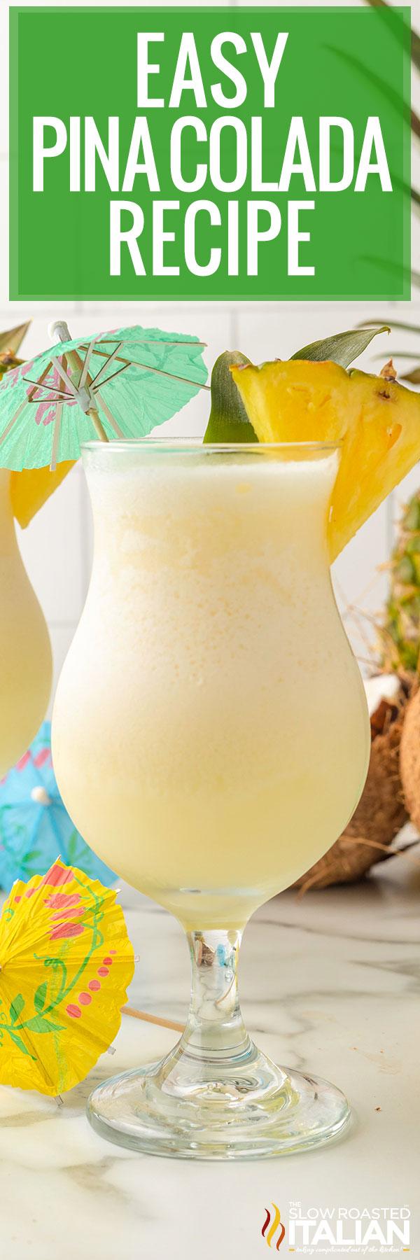 Easy Pina Colada Recipe close up