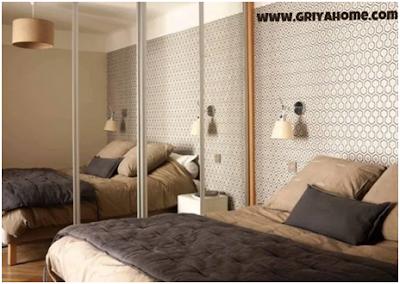 Desain Minimalis Apartemen Studio Menggunakan Cermin