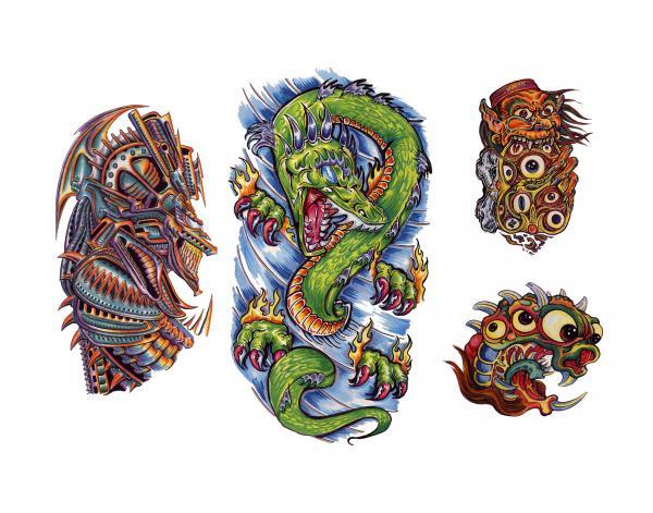 Design Of Magick Tattoo 13, Fantasy Tattoo Designs