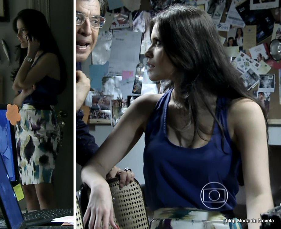 moda da novela Império, look da Carmen dia 1º de novembro de 2014