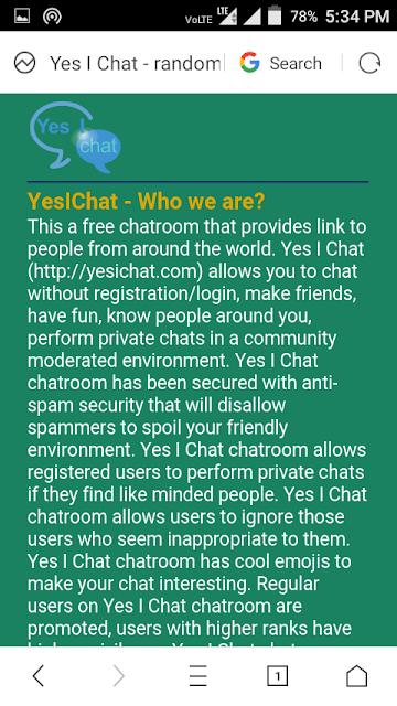 yesichat yesichat.com Yes I Chat india nepal pakistan