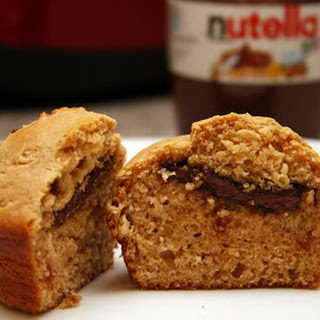 Peanut Butter and Nutella (or Jelly) Muffins