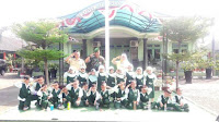Sambangi Makodim 0713 Brebes, Siswa PAUD Beri Bunga ke Anggota TNI