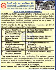 DMRC Indicative Advertisement 2018 www.indgovtjobs.in