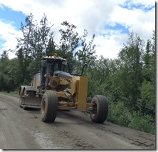 Construction along Dease Lake, Cassiar Highway