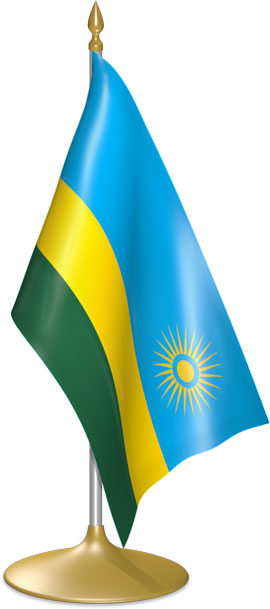 Rwandan table flags - desk flags