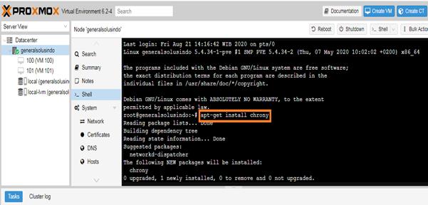 Membuat Cluster Manager di proxmox VE 6.2
