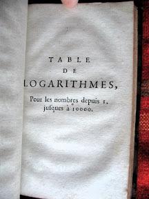 Inicio de los logaritmos de los números naturales
