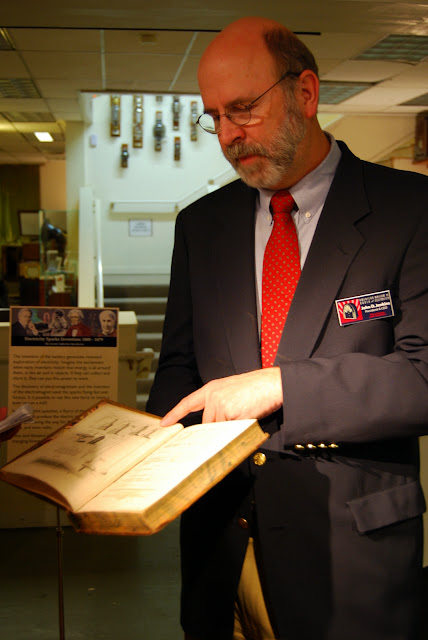 Exploring a book written by Benjamin Franklin on Electricity at the American Museum of Radio and Electricity / Credit: Bellingham Whatcom County Tourism