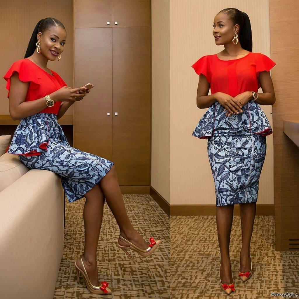 45 latest ankara skirts styles reny styles. Black Bedroom Furniture Sets. Home Design Ideas