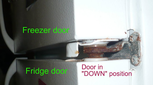 Frigidaire Door Sags A Bit Question About Hinge Pin