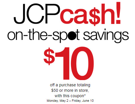 JCPcash coupon june 2011