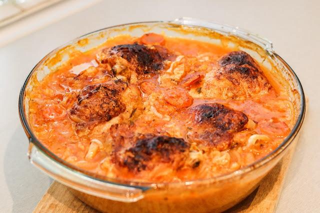dania obiadowe,udka pieczone, kurczak pieczony,dania z kurczaka,kurczak pieczony na ryżu, kurczak z ryżem pieczony, pieczone udka z kurczaka