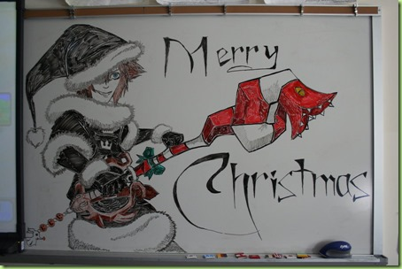 whiteboard christmas
