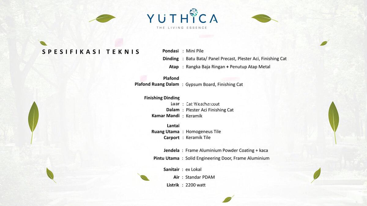 Spesifikasi Teknis Rumah Yuthica BSD