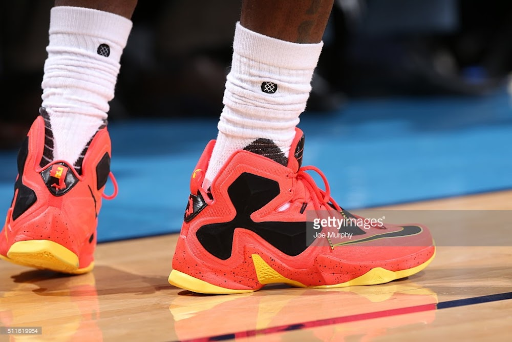 new styles 95bab 68006 ... James Channels The Land with New LeBron 13 PE in Cavs Win
