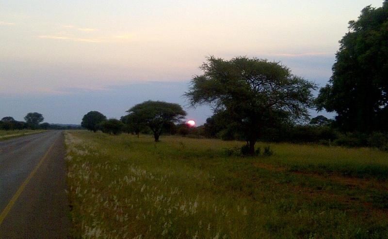 Bike ride at sunrise
