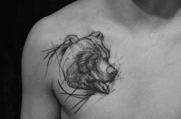 este_esboço_estilo_urso