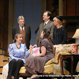 Richard Harte, Benita Zahn, Richard Michael Roe, Stephanie G. Insogna and Patricia Hoffman in THE ROYAL FAMILY (R) - December 2011.  Property of The Schenectady Civic Players Theater Archive.