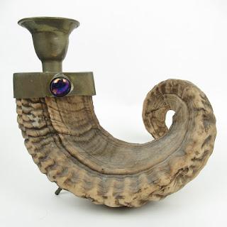 Ram Horn Candleholder