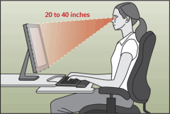 proper distance from computer screens