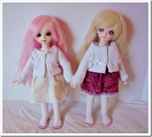 Cute doll sweaters from socks.