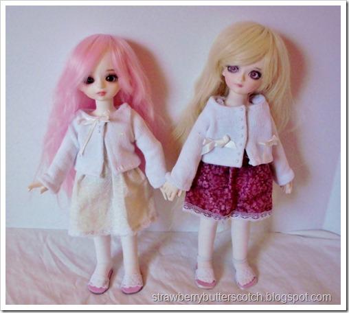 Cute doll sweaters from socks.