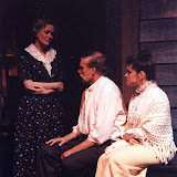 Cynde Schwartz, Bob Laurilliard and Laura LaTorre in LOOK HOMEWARD, ANGEL (R) - March 1994.  Property of The Schenectady Civic Players Theater Archive.