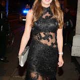 WWW.ENTSIMAGES.COM -  Nina Rush  arriving at    The Breast Cancer Care Fashion Show at Grosvenor House, London October 1st 2014Breast cancer charity hosts annual fashion show featuring women - and men - who have suffered from the disease.                                                      Photo Mobis Photos/OIC 0203 174 1069