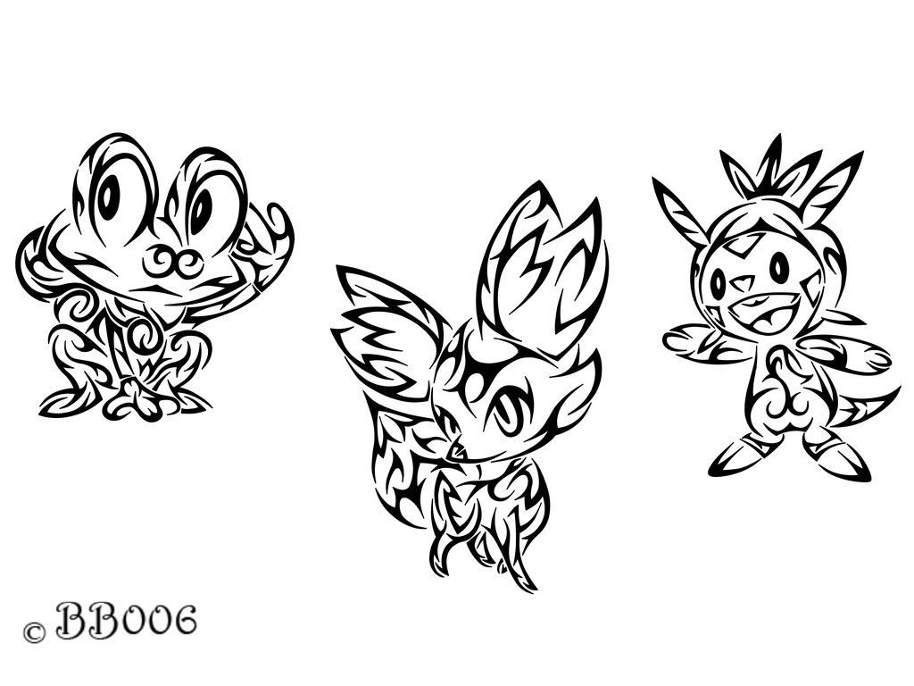 Beautiful Coloring Pages Of Pokemon X And Y Starters Images - Entry ...