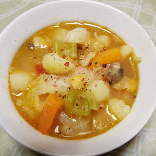 Chunky Cabbage Soup.