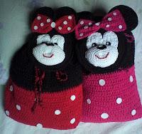 Mochila Infantil - Minie - em crochê