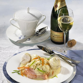 Fried Fish with Champagne Vegetables.