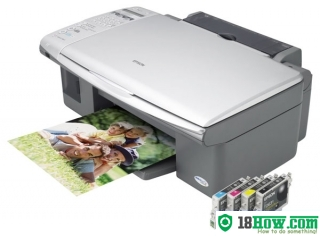 How to reset flashing lights for Epson CX5700F printer