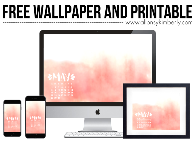 May 2016 Desktop/iPhone Calendar Wallpaper and Printable | allonsykimberly.com