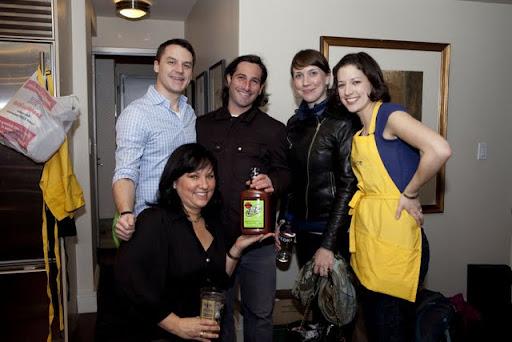 TJ, Scott, Jen, Katie, Liz, Bloody Mary mix