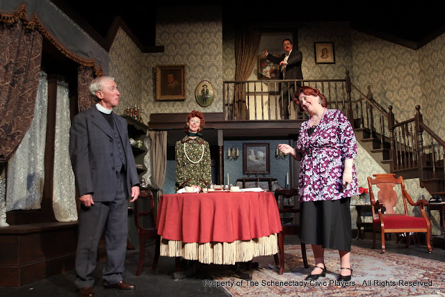 Don Wheeler, Cindy Welch, Robert Hegeman and Debbie May in ARSENIC AND OLD LACE (R) - May 2011.  Property of The Schenectady Civic Players Theater Archive.