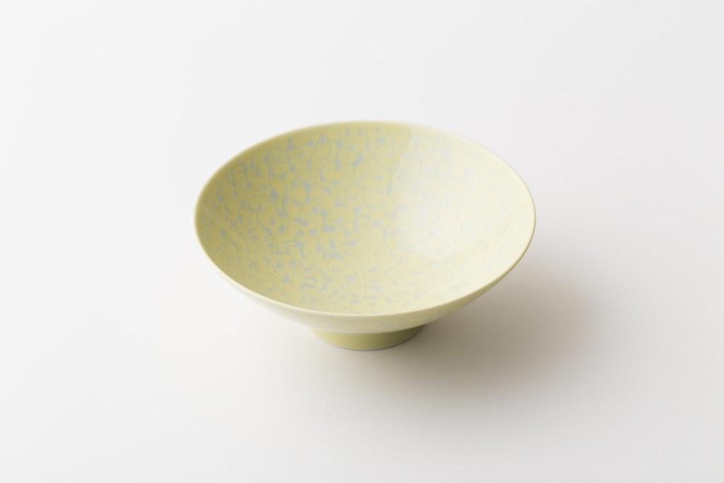 Hira-Chawan Flat Bowl (yellow x small flower)
