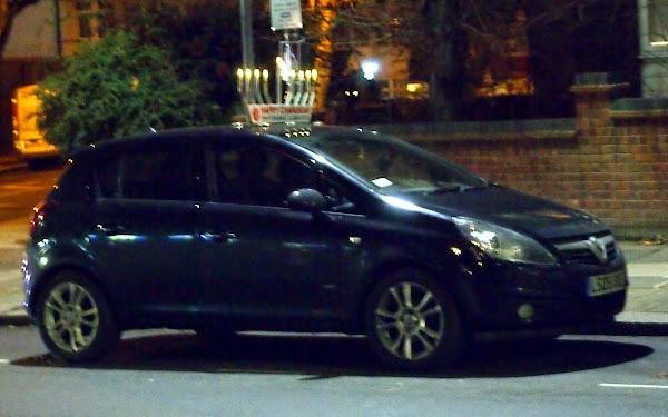 Car with Menorah