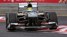 Esteban Gutierrez racing his Sauber C32