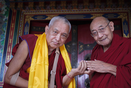 With Dhakpa Rinpoche