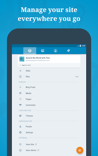 Screenshot 12 for WordPress's Android app'