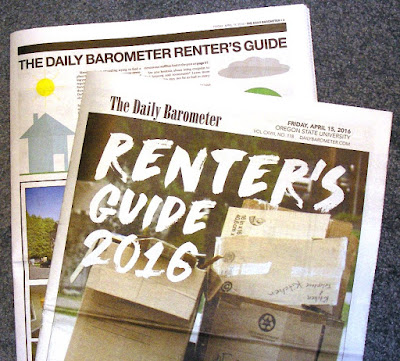 The Daily Barometer Renters Guide 2016 Apr. 15, 2016